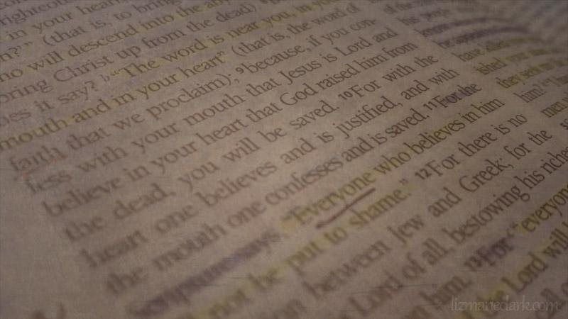 Romans 10:9-10 - lizmarieclark.com