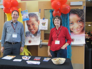 Ron and Katie Imig at the school carnival where we made our presence known to school families.